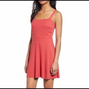 NWT All In Favor Ribbed Red Cardinal Dress